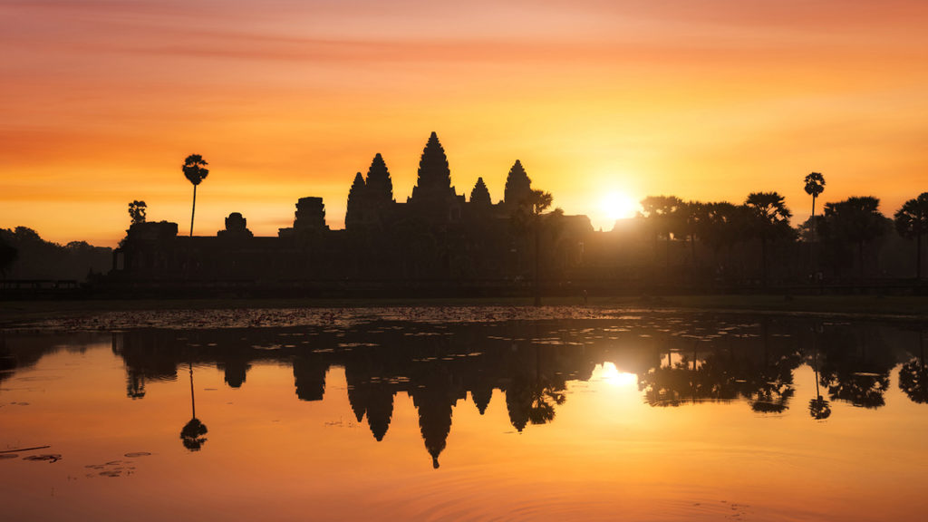 Angkor Wat at sunset, Cambodia
