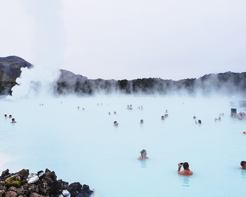 The geothermal pools of the Blue Lagoon