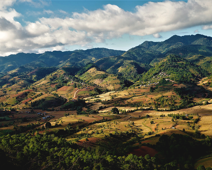 Rolling hills of Kalaw