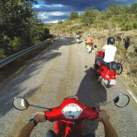 Travel by Vespa through Duratón Canyon Nature Reserve