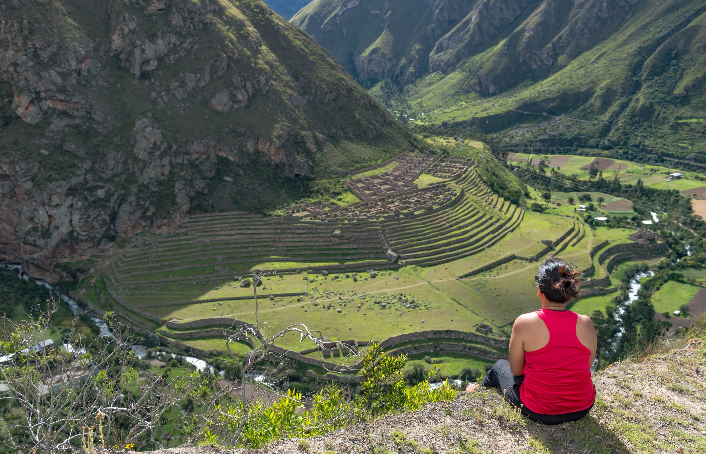 woman on inca trail