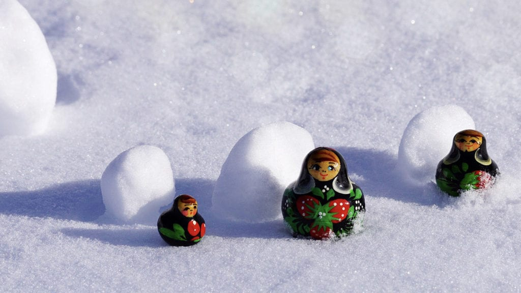 Russians celebrate the figure of Baboushka as the gift-giver at Christmas time