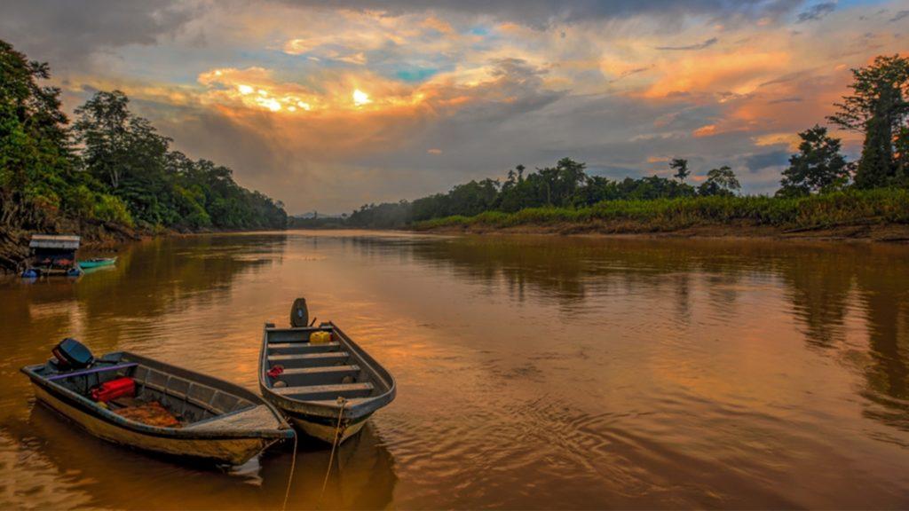 A river in the Sarak region of Borneo
