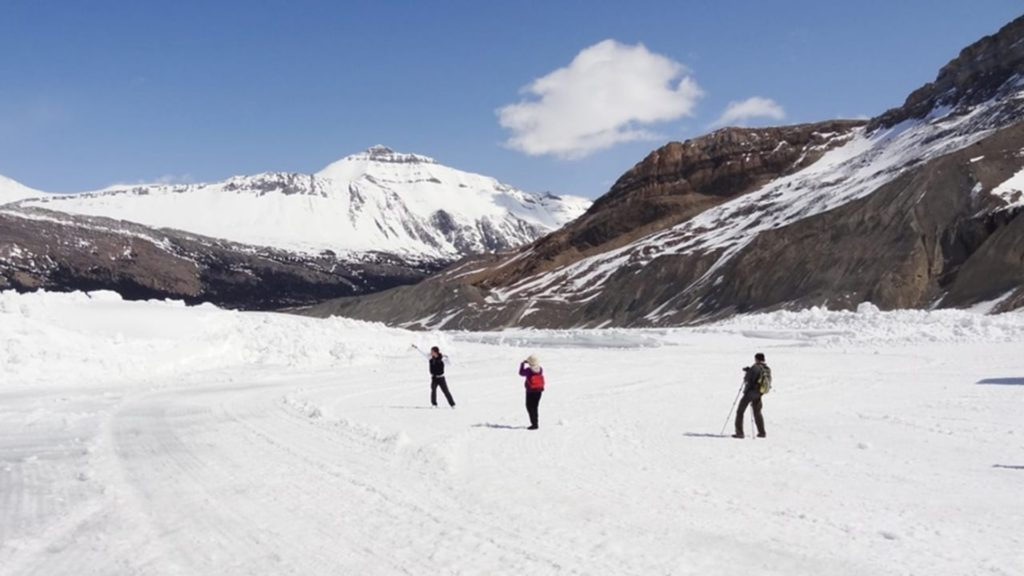 Hiking the Athabasca Glacier in Canada